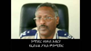 Commander Tesfay Abraha, Federal Police Commissioner