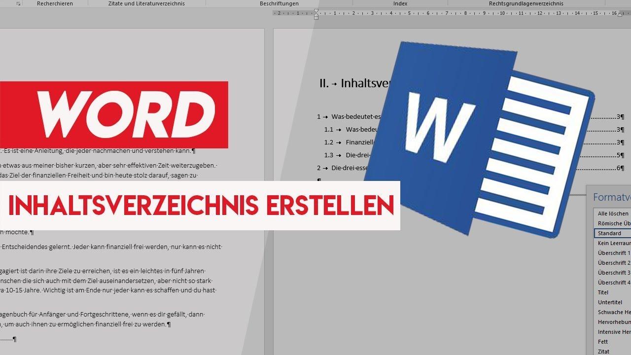 Inhaltsverzeichnis Automatisch Erstellen Microsoft Word 2016