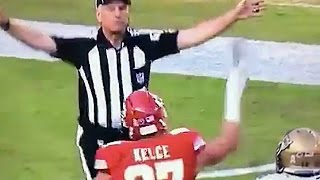 Travis Kelce Throws Towel At Ref For No Call