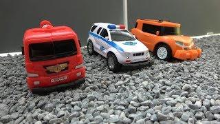 또봇 X 스매시카 장난감 놀이 Tobot X Smash Car Toys play