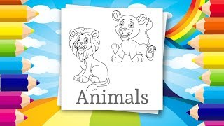 Coloring pages for kids - Cute animals | Drawing pages for kids