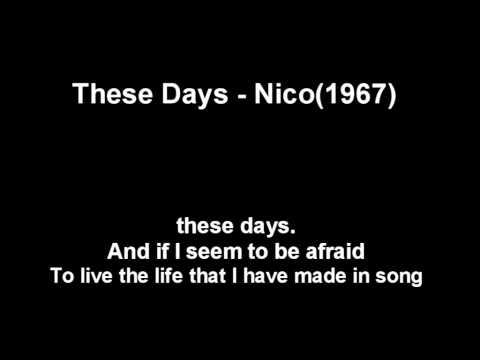 These Days - Nico(1967)