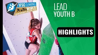 IFSC Youth World Championships Moscow 2018 - Youth B Lead Finals Highlights