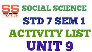 social science activity std 7 sem 1 unit 9 in gujarati