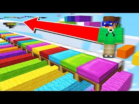 FACEM PARKOUR PE PATURI COLORATE!!! CU ASE - Minecraft RAINBOW PARKOUR