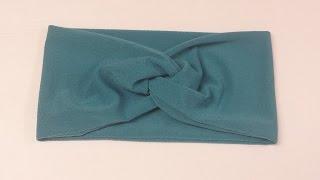 Diy  --- ربطة شعر سهلة جدا للبنات -- ربطة شعر من القماش المتداخل
