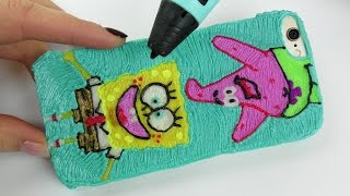 How to Draw Spongebob and Patrick Phone Case with 3D PEN Video for Kids