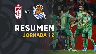 Resumen de Granada CF vs Real Sociedad (1-2)