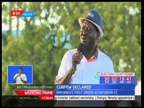 Matiangi declares dusk to dawn curfew in parts of Lamu, Garissa and  Tana River