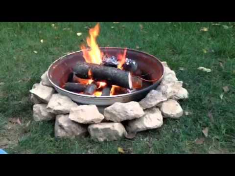 fire pit using a truck wheel youtube. Black Bedroom Furniture Sets. Home Design Ideas