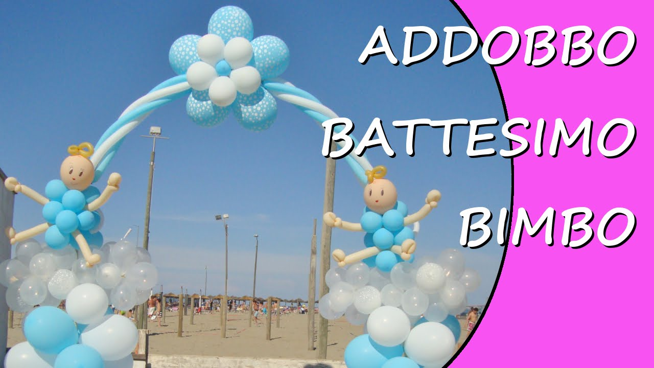 abbastanza Addobbo battesimo bambino - Decorazioni con palloncini per  CF05