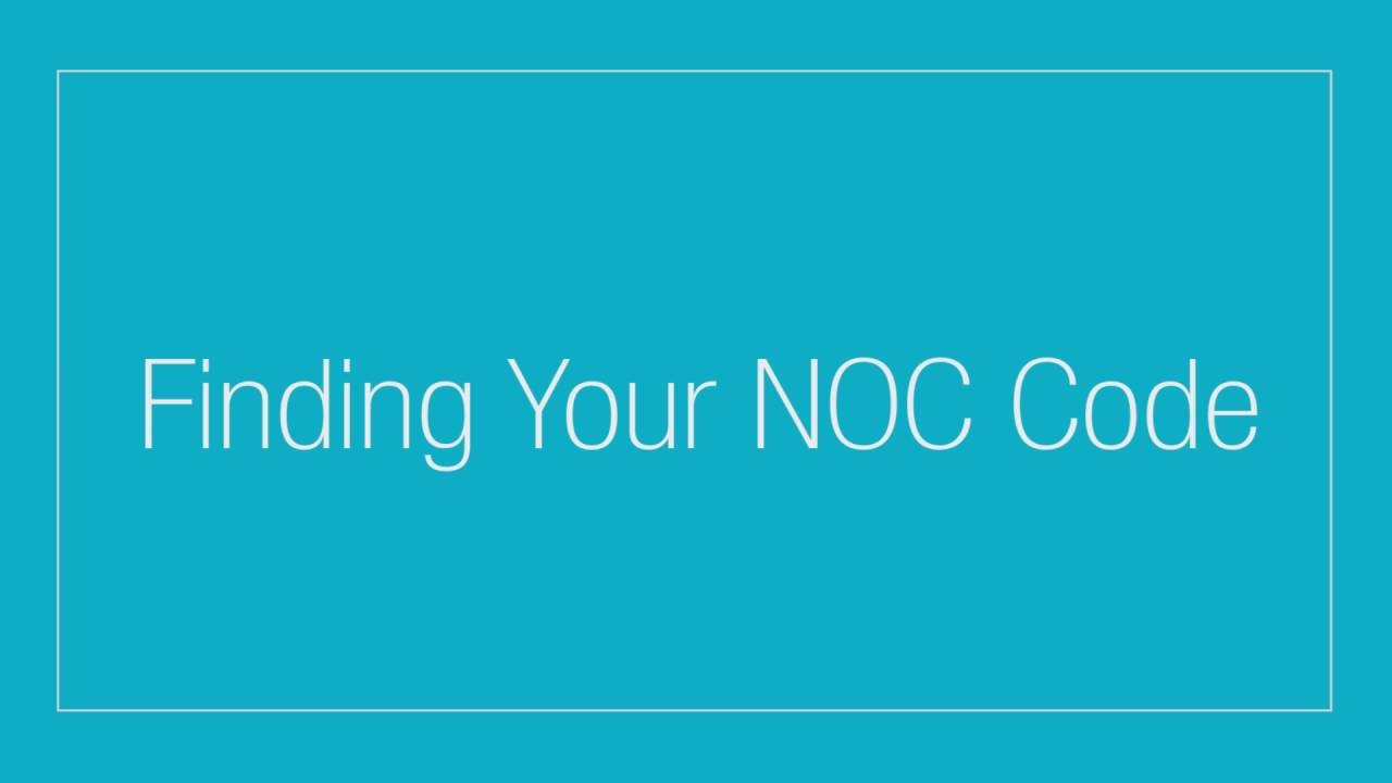 how to read noc codes