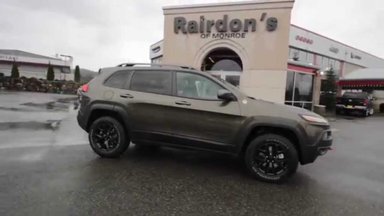 2015 jeep cherokee trailhawk green fw646699 everett snohomish youtube. Black Bedroom Furniture Sets. Home Design Ideas