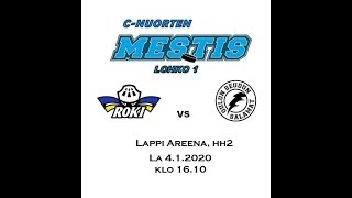 C-nuorten Mestis RoKi vs. Os Salamat Lappi Areenan hh2:ssa 4.1.2020
