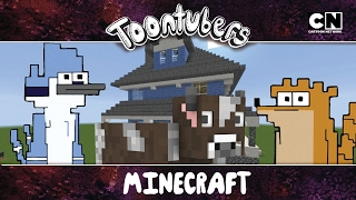 Eu sobrevivi a selva do Minecraft!!!  | ToonTubers | Cartoon Network
