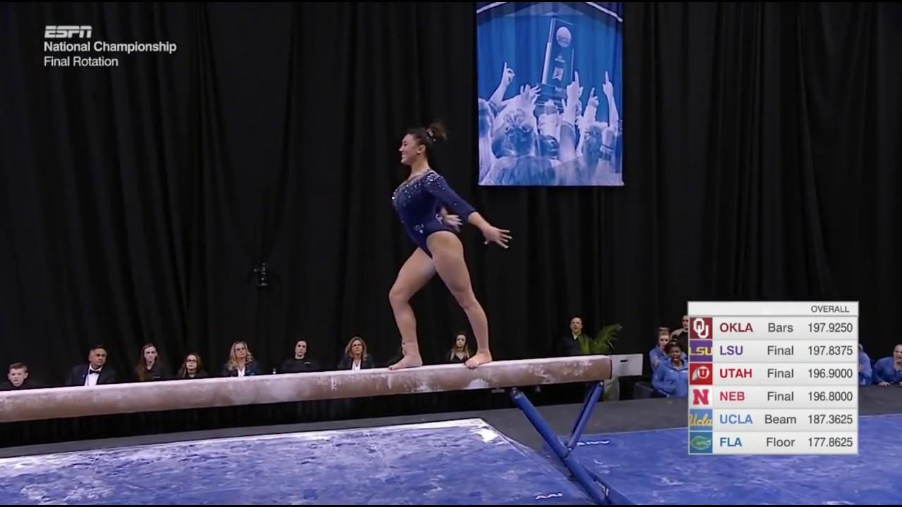 Kyla Ross Balance Beam 2018 NCAA Championships Super Six