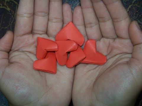 very easy way to make paper heart -fold/alsa kami arts