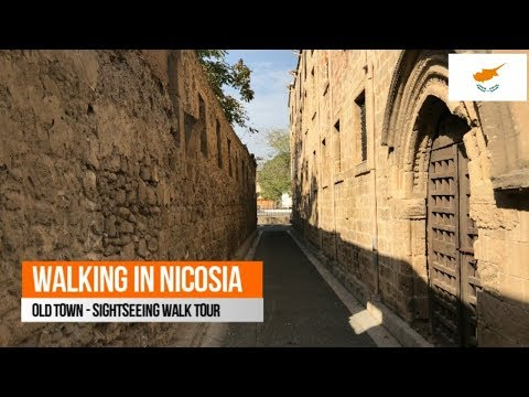Walking in Nicosia: Sightseeing Tour Video (4K)