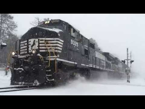 Thumbnail: Noroflk Southern Freight in the Snow