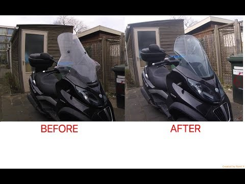 Piaggio MP3 | changing Comfort windshield for Sport