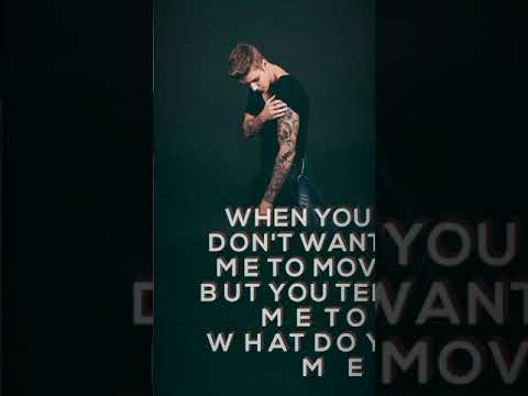 What do you mean english song justin bieber