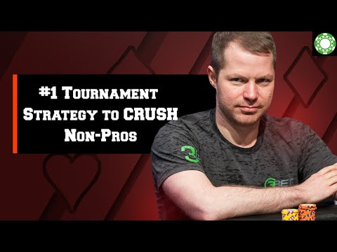 #1 Tournament Poker Strategy To Crush Non-Pros - A Little Coffee With Jonathan Little, 10/25/2019