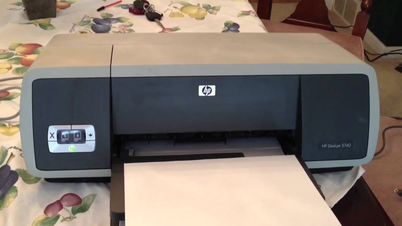 hp deskjet 5740 color printer it works youtube rh youtube com HP 5740 Ink Cartridges hp deskjet 5740 user manual