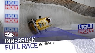 Innsbruck | BMW IBSF World Cup 2017/2018 - Women's Bobsleigh Heat 1 | IBSF Official