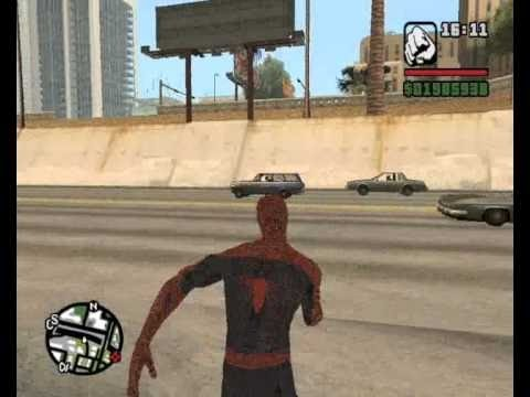 How to get spiderman dress in gta san andreas