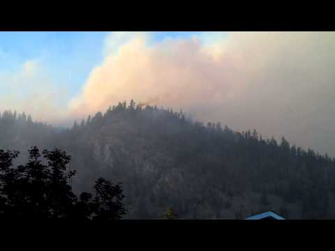 Mullan West Fire Moves Toward the Town of Superior, Montana