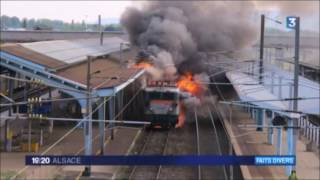 Incendie en gare de Sélestat