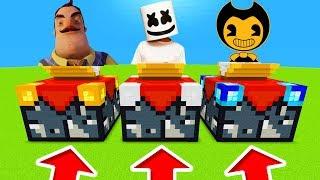 Minecraft PE : DO NOT CHOOSE THE WRONG ENCHANTMENT TABLE! (Hello Neighbour, Marshmello & Bendy)