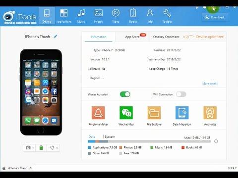 Hướng dẫn dùng iTools chép nhạc, hình, video, tạo nhạc chuông cho iPhone iOS 10