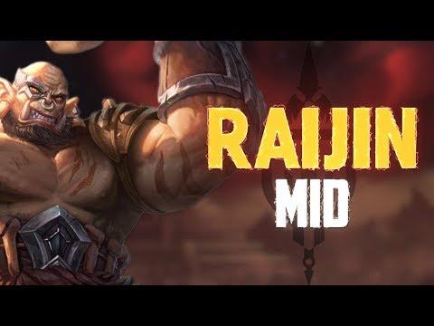 Raijun Mid: LET LOOSE THE DRUMS OF WAR! - Incon - Smite