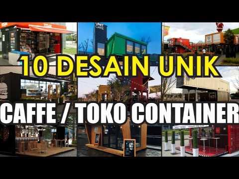 10 Desain Unik Caffe dan Toko Dari Container Modern