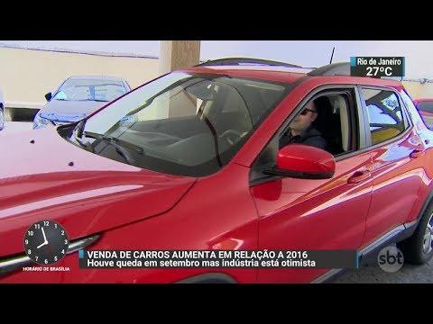 Produção de veículos cresce 39% em setembro | SBT Brasil (05/10/17)