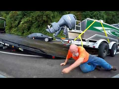 Kia Takes Out Boat and Trailer