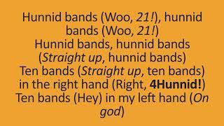 Mustard feat. Quavo, 21 Savage, YG, Meek Mill - 100 Bands (lyrics)