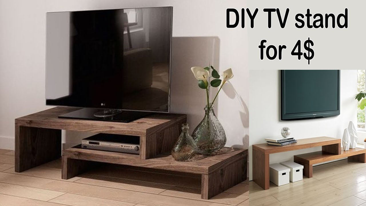 simple diy tv stand design for 4
