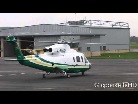 Sikorsky S-76C++ Taxing and Shutdown Gloucestershire airport