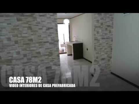 Casas prefabricadas costa rica 78 m2 vista por dentro for Casas pintadas por dentro