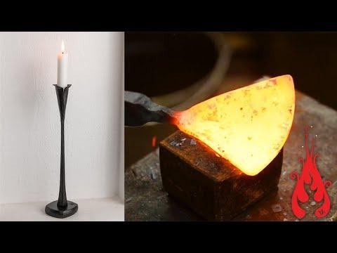 Blacksmithing - Forging a candlestick