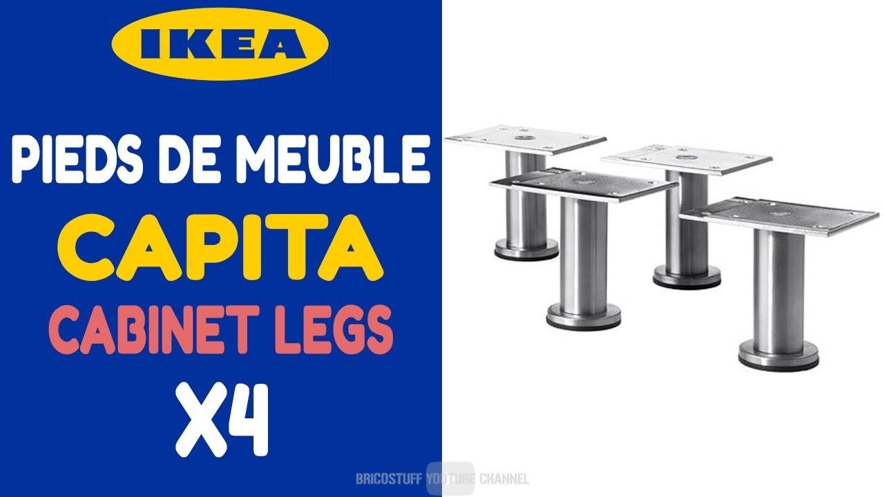 Déballage Et Montage Lot De 4 Pieds Capita Sur étagère De Bureau Ikea 30244346