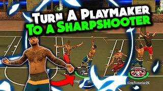 NBA 2K17 HOW TO TURN A PLAYMAKER INTO A SHARPSHOOTER ABSOLUTE BEST JUMPSHOT AFTER PATCH 11