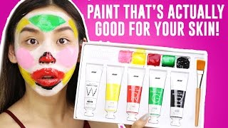 PAINT THAT GIVES YOU BETTER SKIN! OMG || TINA TRIES IT