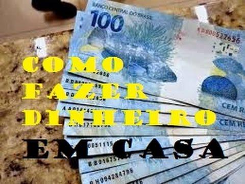 Como fazer dinheiro em casa. - YouTube