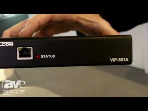 ISE 2017: Valcom Shows VIP-801A Audio Gateway