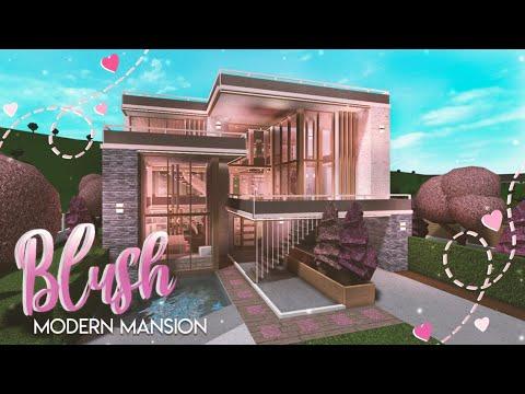 Bloxburg Blush Modern Mansion She Speaks House Build