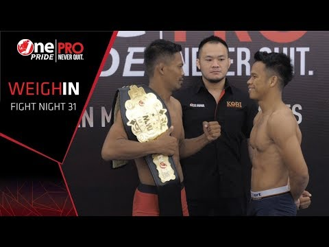 Suwardi Vs Jeremia Siregar FN #31 One Pride Pro Never Quit | Weight-In (24/8/2019)