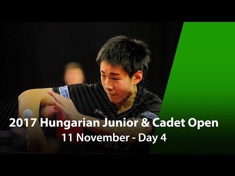 2017 ITTF Hungarian Junior & Cadet Open - Day 4